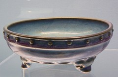 dishware(0.0), tureen(0.0), bowl(0.0), porcelain(0.0), art(1.0), pottery(1.0), cobalt blue(1.0), tableware(1.0), antique(1.0), ceramic(1.0),