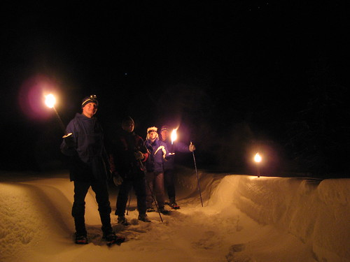 norway norge nightimages torch valdres oppland ellingsaeter