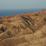 Red Rocks, Blue Waters of Lake Issyk-Kul - Manzhyly, Kyrgyzstan