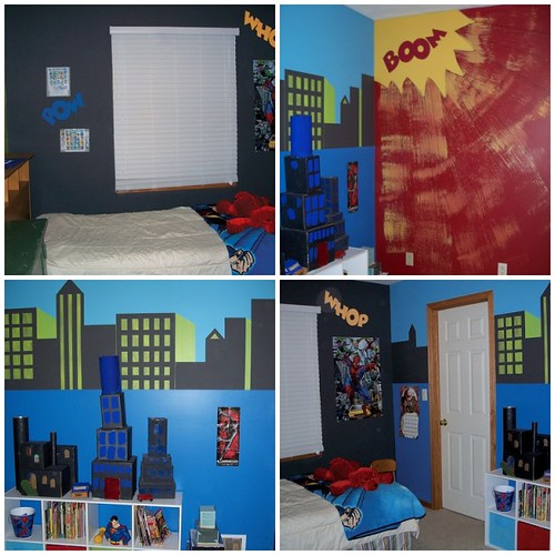 flying time designs comic book bedroom
