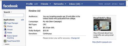 My Facebook Ad Test