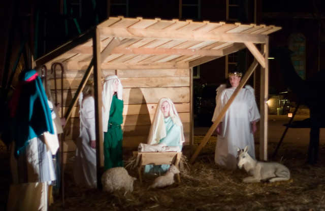 Nativity Scene At Pine Grove Methodist Church Outdoor