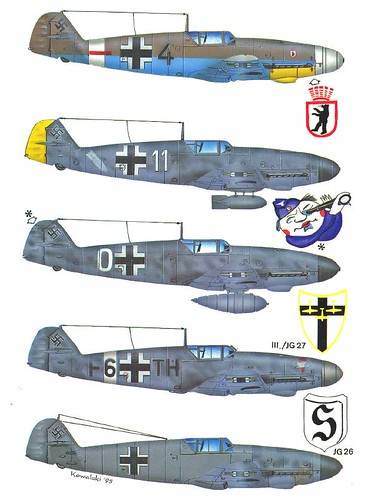 messerschmitt bf 109 coloring pages - photo#40
