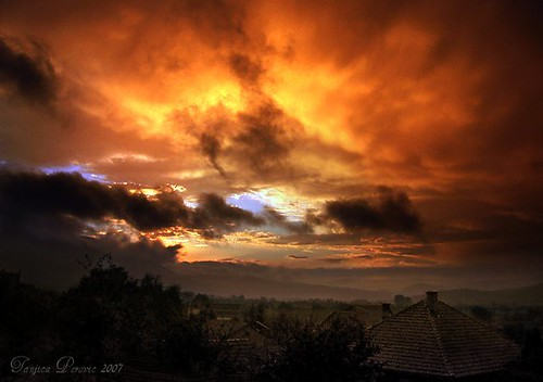 sunset red sky orange colors yellow skyline clouds spectacular landscape fire photography evening spring amazing twilight colorful moody village afterstorm dusk serbia vivid roofs stunning cloudscape atmospheric afterrain fiery sunsetting srbija memorable catchycolorsorange srpskoselo тањицаперовић tanjicaperovicphotography mokrabelapalankasrbija