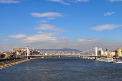 Budapest: the Danube and Elizabeth Bridge from Liberty Bridge
