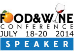 Food and Wine Conference Speaker Badge