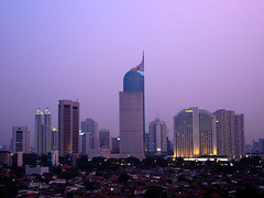 Jakarta skyline: A picture from my hometown by yohanes budiyanto