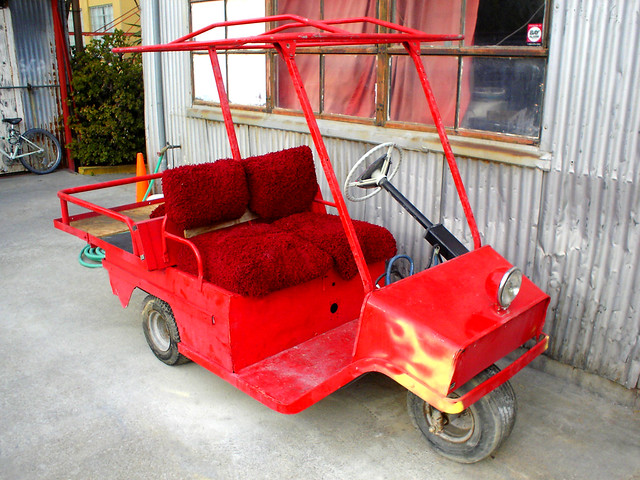 Red    Cushman       1972    Electric    Golf       Cart    2   Flickr  Photo Sharing