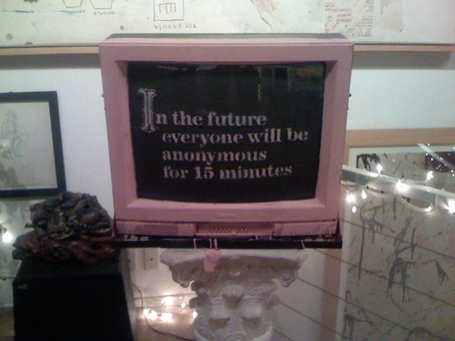 In the future everyone will be anonymous for 15 minutes.