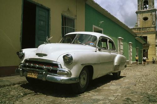 """""""Cuban Car"""", Classic US car, Trinidad, Cuba"""