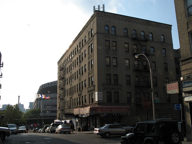 Gerard Avenue and 157th Street, a block away from Yankee Stadium