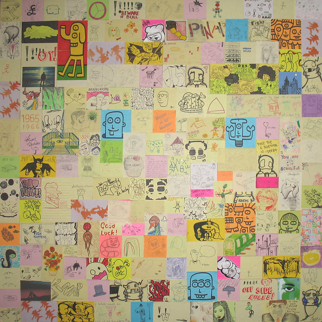 post it note art collage pinap community art collage cre flickr photo sharing. Black Bedroom Furniture Sets. Home Design Ideas