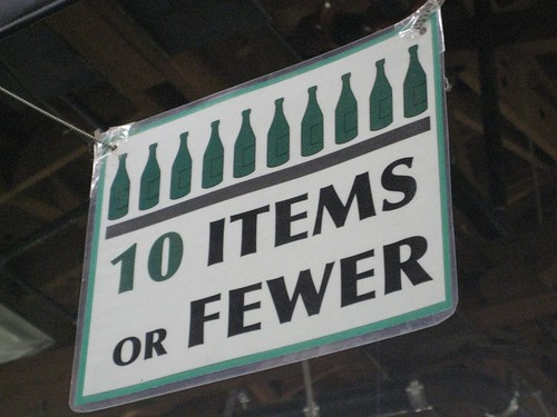 10 ITEMS OR FEWER