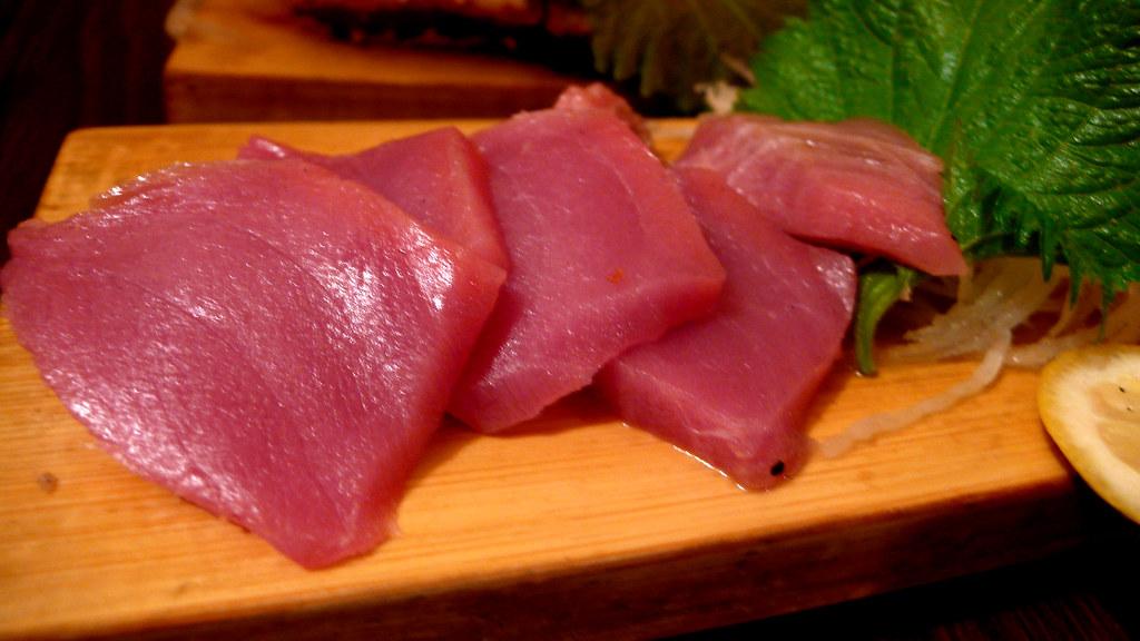 20080223 東京玩第一天 152 根室食堂 本マグロ刺身 本金槍魚黑鮪魚生魚片