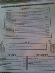 Latin Chef menu back