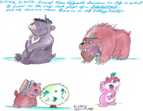 The Last Page in my (Middle) Spring 2008 Sketchbook