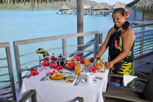 Breakfast on your bungalow InterContinental Bora Bora Resort & Thalasso Spa