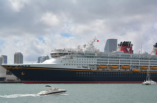 Disney Wonder Cruise ship- Port of Miami Florida