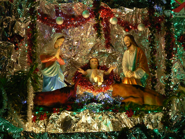 Christmas crib ah baby jesus in tinfoil it had to be do