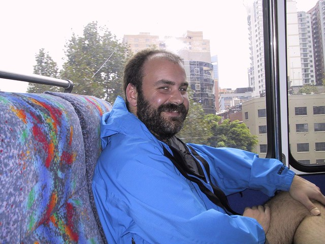 Chris on the bus