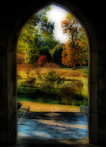 door autumn trees light sunlight fall nature cemetery grass stone architecture landscape arch shadows northcarolina raleigh historic frame archway oakwood chrysti platinumphoto aplusphoto goldstaraward platinumsuperstar