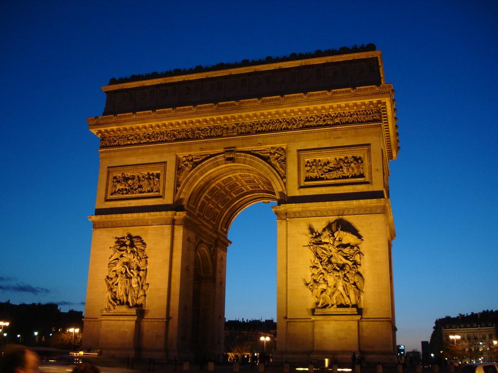 Arco de Triunfo la nuit