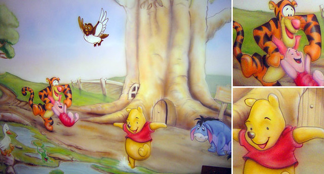 winnie the pooh wall mural flickr photo sharing. Black Bedroom Furniture Sets. Home Design Ideas