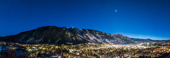 Aspen & Aspen Mountain Night Pano