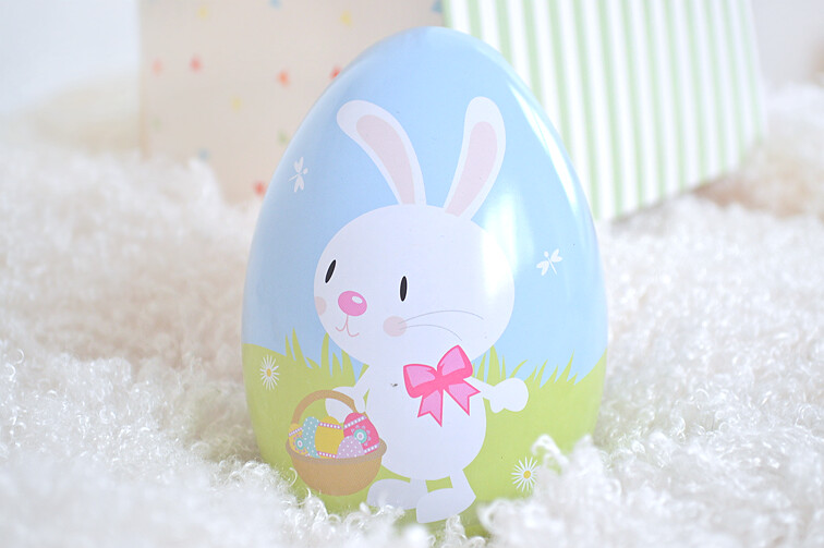 Easter gift boxes milk bubble tea easter gift box bunny tins negle Image collections