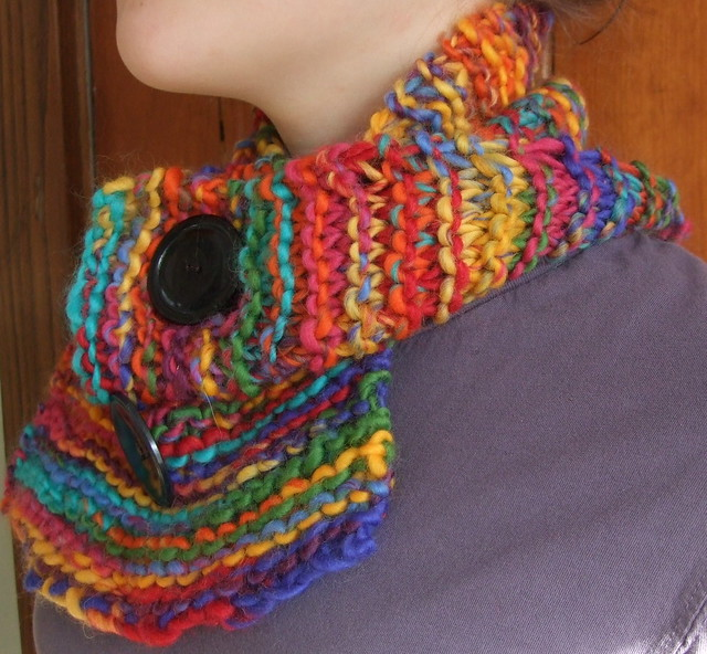 handspun and knitted collar scarf my own pattern . There i? Flickr - Phot...