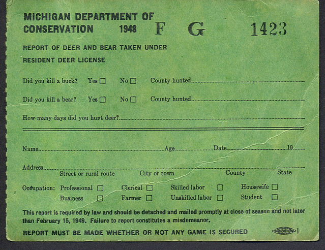 Flickr photo sharing for Michigan non resident fishing license