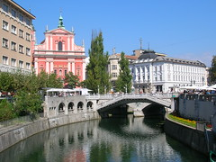 Ljubljana's triple bridge