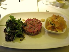 meal, dinner, lunch, supper, meat, steak tartare, food, dish, cuisine,