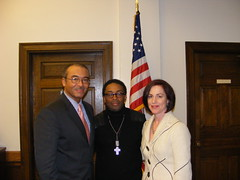 Columbus Mayor Michael Coleman, Spike Lee, and Sherri Geldin