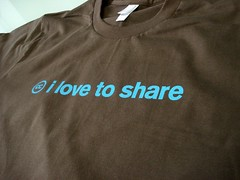 I love to share T-shirt from Creative Commons