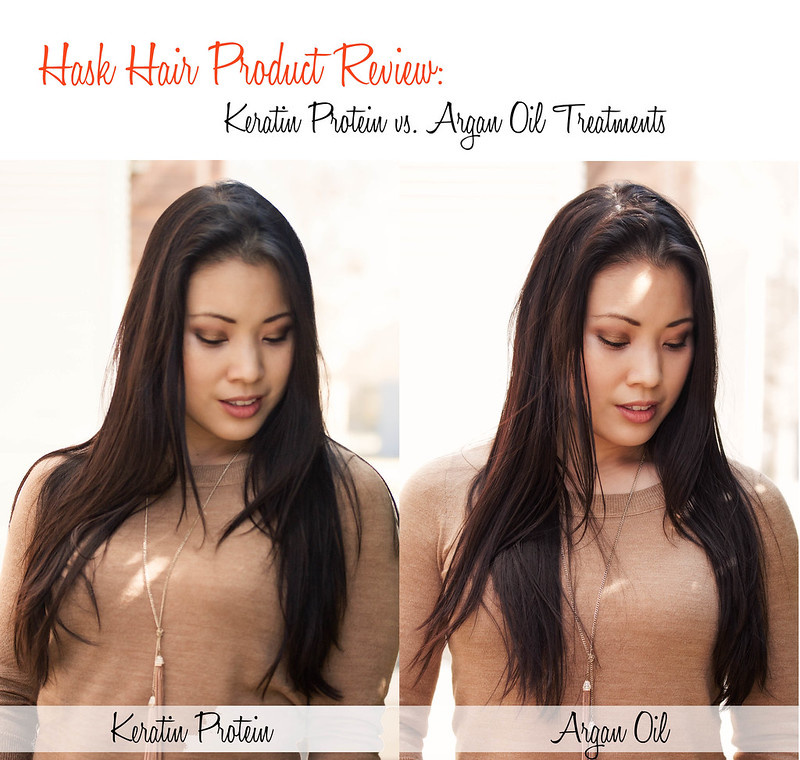Hair Product review: keratin protein vs argan oil hair treatment