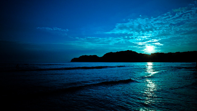 Deep blue: Sunset