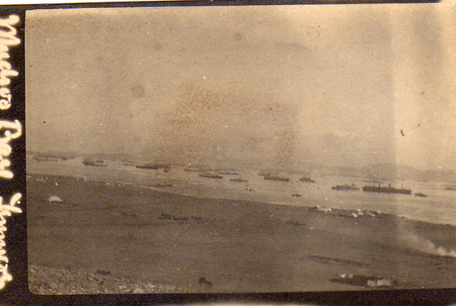 Ships standing in Mudros Bay, Lemnos 1915