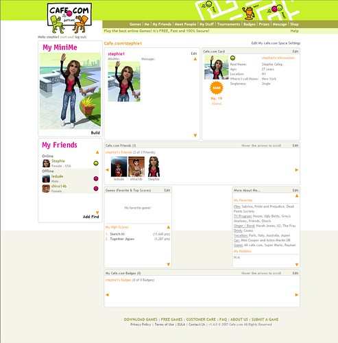 MyProfile Page