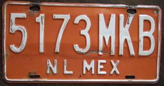 MEXICO, Neuvo Leon state, Taxi 1992-98 series
