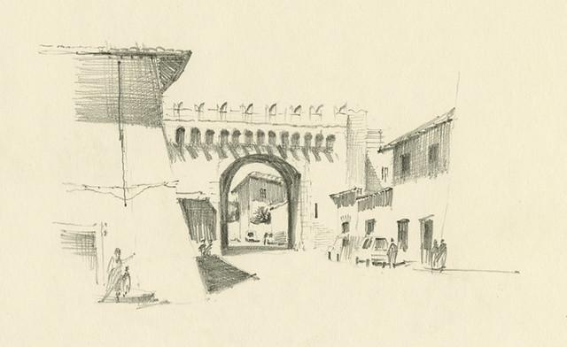 Porta Settimiana - Roma, Italia