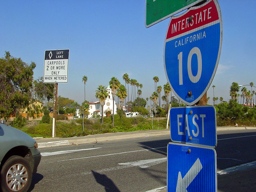23a - The Santa Monica Freeway, Originally called the Olympic Freeway, 1964 (E)