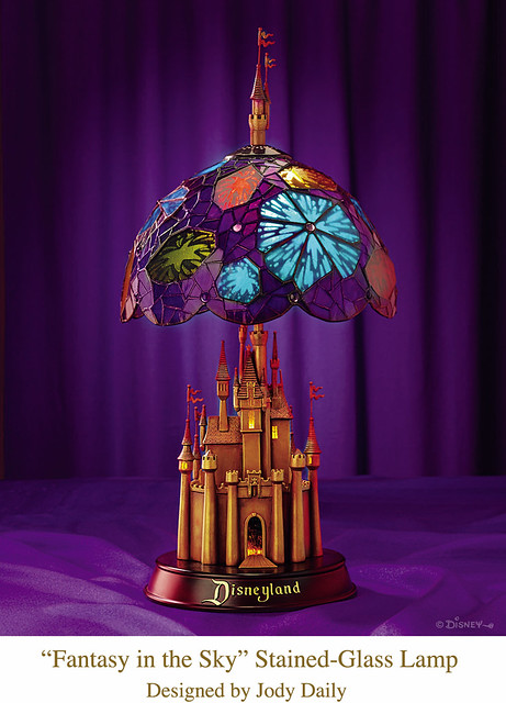Disneyland Castle Stained-Glass Lamp