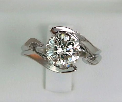 platinum 39 floating diamond 39 engagement ring flickr