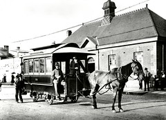 horse and tram car