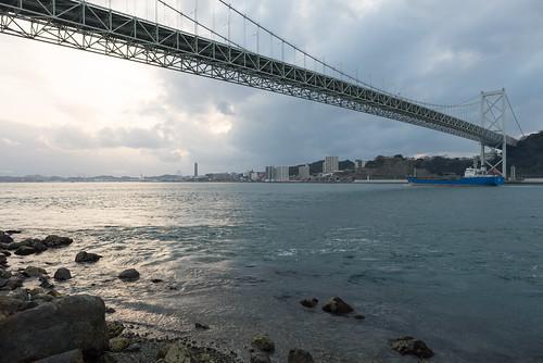2014 九州 北九州市 旅行 海 瀬戸内海 福岡県 門司区 関門橋 日本 nikond600 zf2 fukuoka sea bridge japan travel setoinlandsea distagont225 carlzeiss