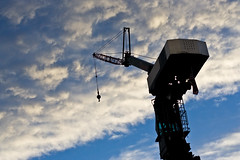 Crane with sky