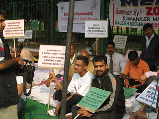 Dharna on International Men's Day