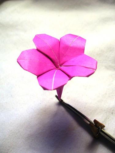 Papierblumen falten: Januar 2008