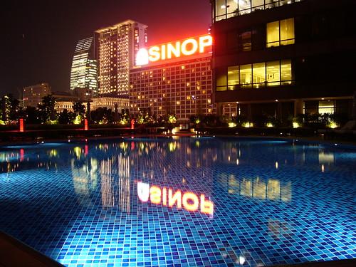 Intercontinental Hong Kong - Swimming Pool at Night
